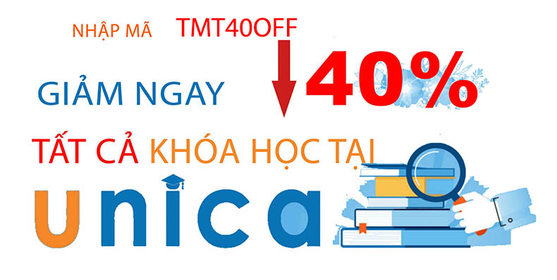Unica 40% off